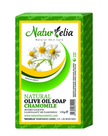 Olive Oil Face & Body Care Soap With Chamomile 100gr