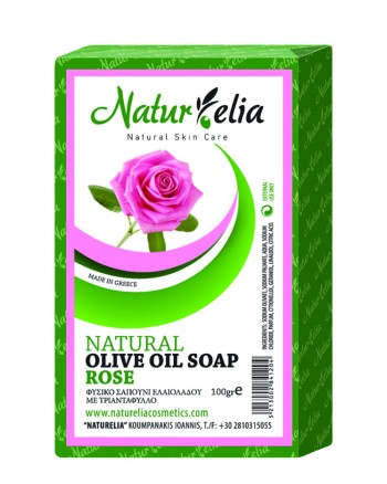 Olive Oil Face & Body Care Soap With Rose 100gr